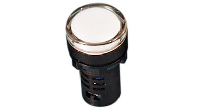 Indicator 22,5mm white 230VDC IP65