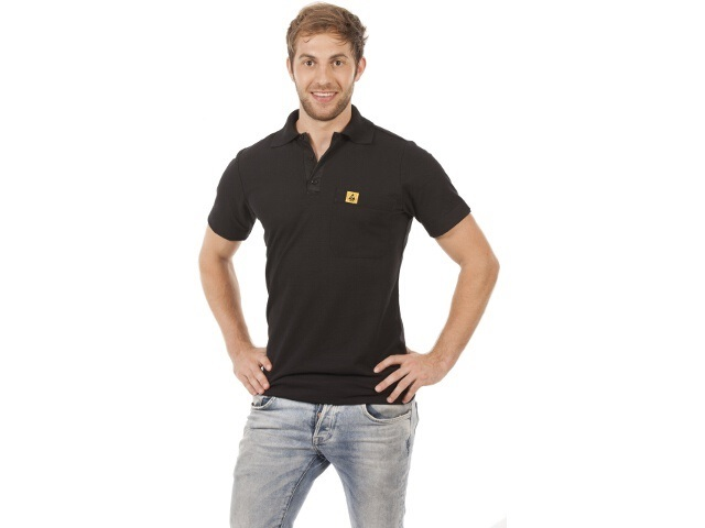 Polo-Shirt black size S