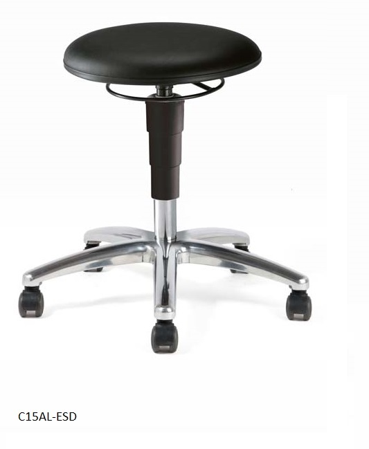 Stool 15, artificial ESD leather bl
