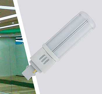 Ledlamp G24 9W 230VAC 4000K 4pin