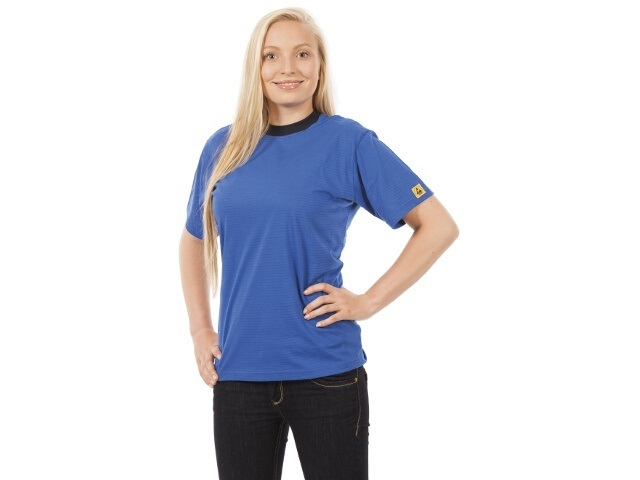 ESD T-shirt, blue, unisex 3XL