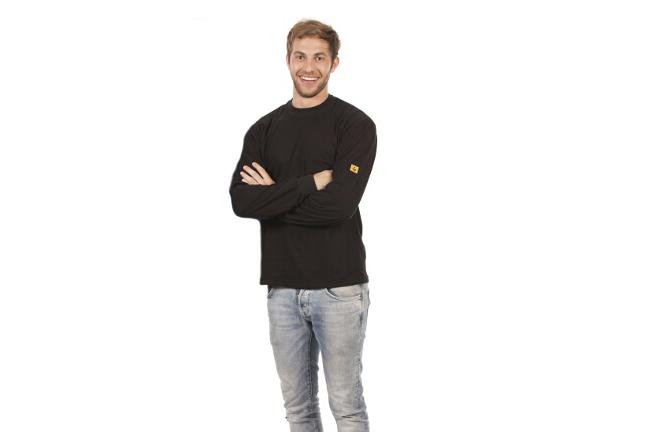 T-shirt long sleeve, black, size L