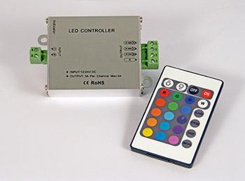 RGB-Ohjain monipuolinen kaukosäädin