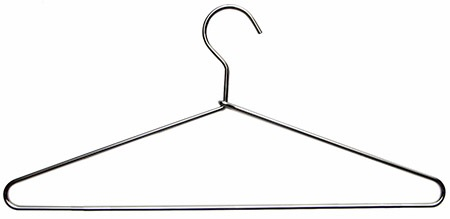 Cleanroom coat hanger, steel