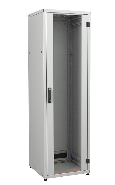 IT cabinet 42U 600x600, glass door