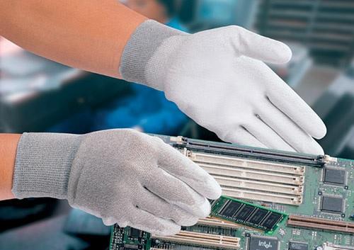 ESD Palm fit glove, carbon L