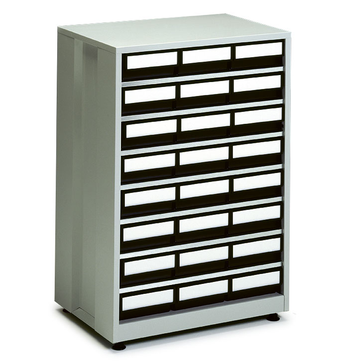 High density storage cabinet