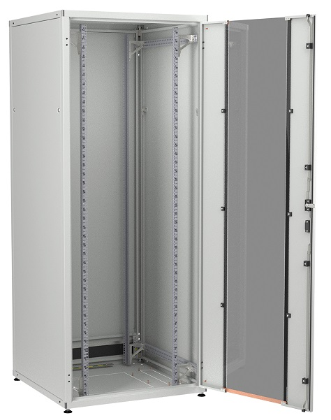 IT cabinet 42U 800x800, glass door